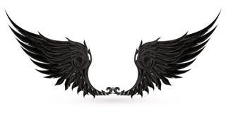 svarta vingar royaltyfri illustrationer