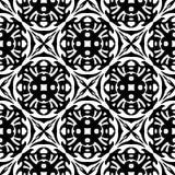 Svarta vita repetitiondesigner för vektor Royaltyfri Fotografi