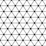 Svarta vita trianglar lattice den enkla sömlösa modellen, vektor Arkivbild