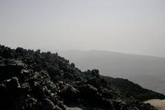 Svarta vulkaniska Lava Rock Royaltyfri Fotografi