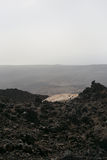Svarta vulkaniska Lava Rock arkivfoton