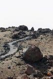 Svarta vulkaniska Lava Rock royaltyfria foton