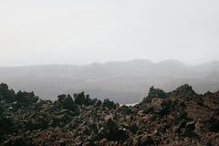 Svarta vulkaniska Lava Rock Arkivbilder