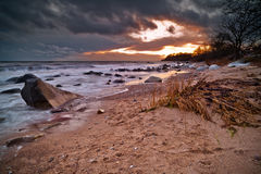 Svarte plaża Zdjęcia Royalty Free