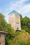 Svarten står hög i Brasov, Transylvania, Rumänien Royaltyfri Bild