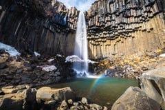 Svartifoss, Ισλανδία Στοκ Φωτογραφίες