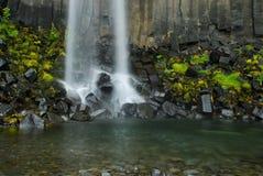 Svartifoss, Исландия Стоковое фото RF