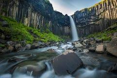 Svartifoss, Black Waterfall, Iceland Stock Image