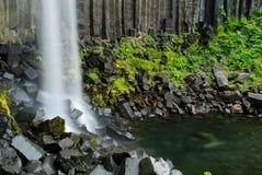 Svartifoss, Islandia imagenes de archivo