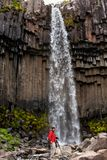 Svartifoss - the most picturesque waterfall of Iceland Royalty Free Stock Images
