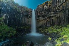 Svartifoss in Nationalpark Skaftafell in Island Stockbild