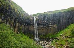 Svartifoss siklawa - Iceland zdjęcie stock