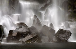Svartifoss vattenfall i Island Fotografering för Bildbyråer