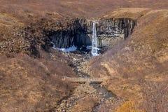 Svartifoss Wasserfall Lizenzfreies Stockbild