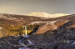 Svartifoss Water in Early Winter Royalty Free Stock Photography