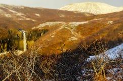 Svartifoss Water in Early Winter Stock Photo
