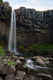 Svartifoss Waterfall Stock Photo