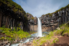 Free Svartifoss Waterfall Royalty Free Stock Image - 35134016