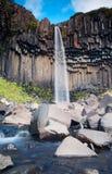 Svartifoss waterfall Royalty Free Stock Photos