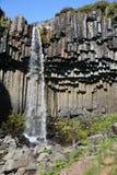 Svartifoss Waterfall Royalty Free Stock Photography