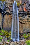 Svartifoss waterfall in HDR, Iceland. Southern Europe royalty free stock images