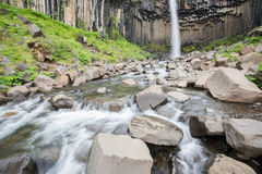 Svartifoss Waterfall, Iceland Stock Photo