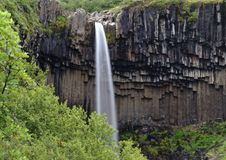 Svartifoss waterfall in Iceland Royalty Free Stock Image