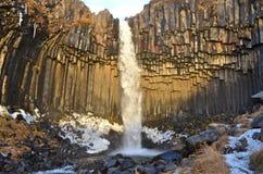 Svartifoss waterfall, Iceland. Stock Images