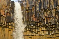 Svartifoss waterfall, Iceland. Stock Image