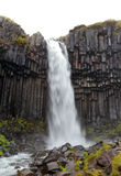Svartifoss waterfall stock photos
