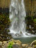 Energy of waterfalls stock image