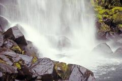 Svartifoss waterfall, Skaftafell N.P., Iceland. Svartifoss waterfall hits riverbed, Skaftafell N.P., Iceland Stock Photography
