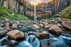 Free Svartifoss Waterfall. Skaftafell National Park, Vatnajokull Glacier, Iceland, Europe. Royalty Free Stock Image - 190730166