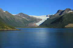 Svartisen glacier. Royalty Free Stock Images