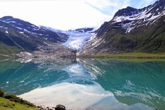 Svartisen Glacier in may Stock Images