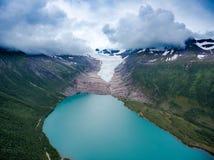 Svartisen Glacier in Norway. Royalty Free Stock Image