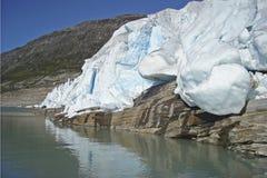 Svartisen Glaciers, Norway. Svartisen Glaciers in Norway with glacier lake Royalty Free Stock Photo