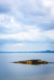 Svartsandstrand, Aberdour, Skottland Arkivfoto