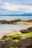 Svartsandstrand, Aberdour, Skottland Arkivbilder