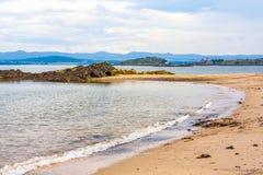 Svartsandstrand, Aberdour, Skottland Fotografering för Bildbyråer