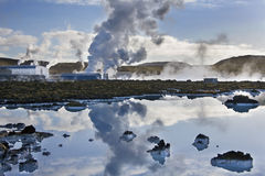 Iceland - Svartsengi Geothermal Power Station Stock Image