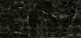 Svarttegelplattamarmor texturerar bakgrund detaljerad struktur av marmor i naturligt mönstrat för bakgrund och design royaltyfri foto