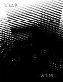 Svartvit abstrakt bakgrund Arkivfoto