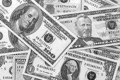 Svartvit abstrakt bakgrund för US dollar Arkivbilder