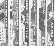 Svartvit abstrakt bakgrund för US dollar Fotografering för Bildbyråer