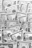 Svartvit abstrakt bakgrund för US dollar Arkivfoton