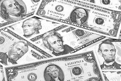 Svartvit abstrakt bakgrund för US dollar Arkivbild