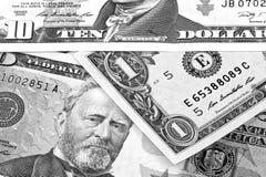 Svartvit abstrakt bakgrund för US dollar Arkivfoto