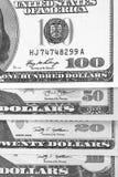 Svartvit abstrakt bakgrund för US dollar Royaltyfri Fotografi