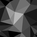 Svartvit abstrakt bakgrundspolygon Royaltyfria Foton